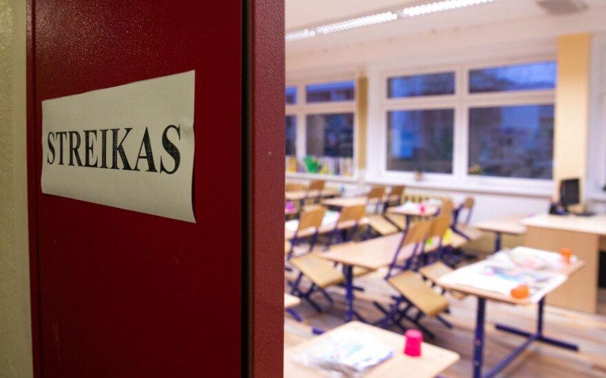 Mokytojų streikas įsibėgėja: jungiasi dar 10 mokyklų