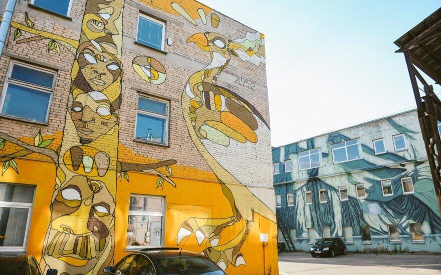 """""""Loftas Fest"""" metu – naujų gatvės meno galerijos """"Open Gallery"""" darbų pristatymas"""