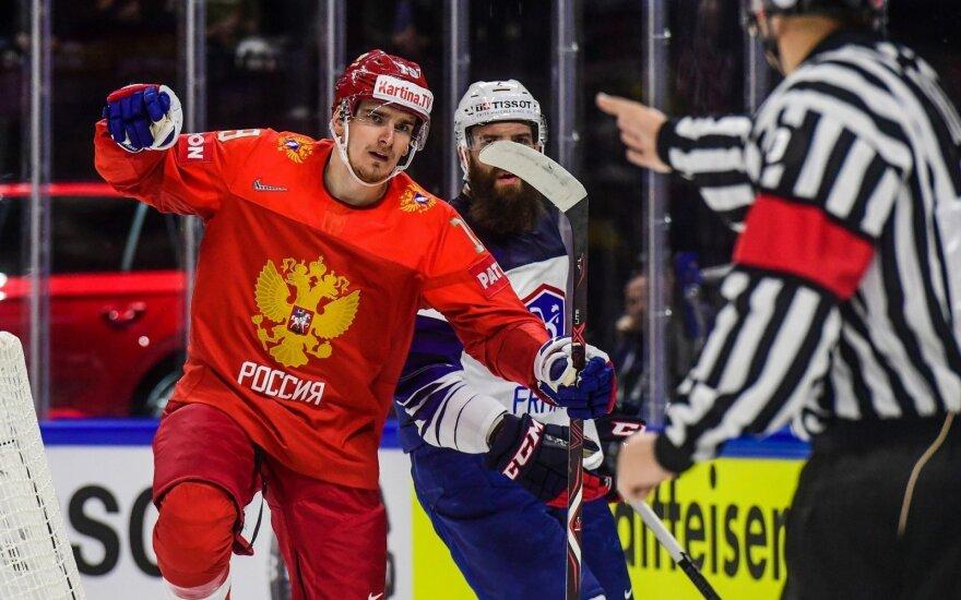 Pasaulio ledo ritulio čempionatas: Rusija - Prancūzija