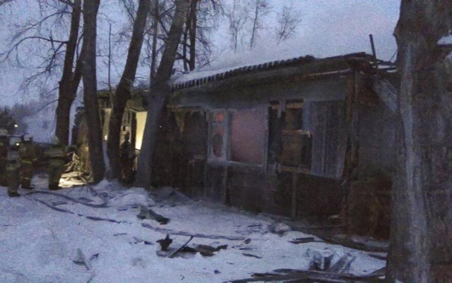 Gaisras Sibire pareikalavo 11 gyvybių