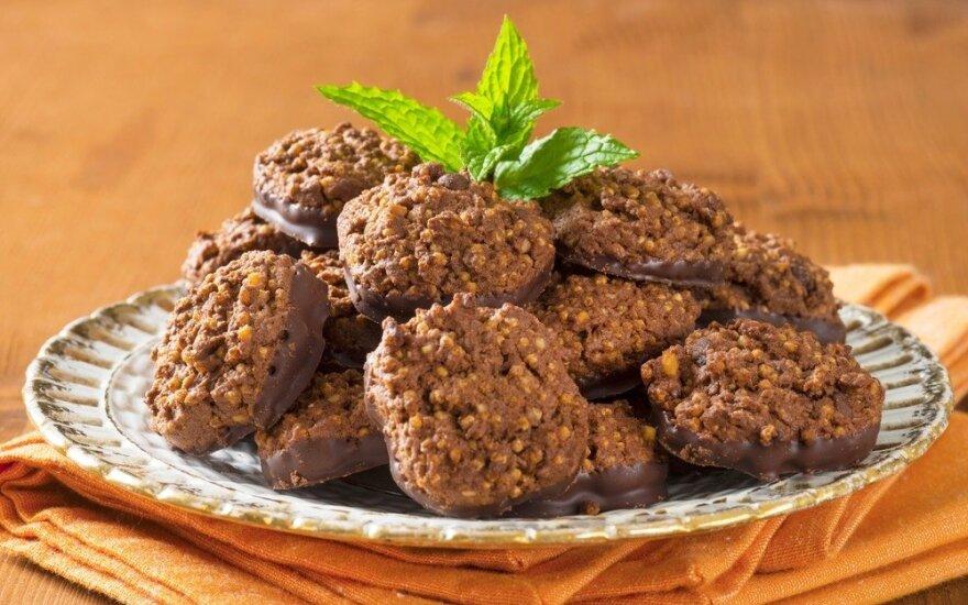 Šokoladiniai sėklų sausainiai
