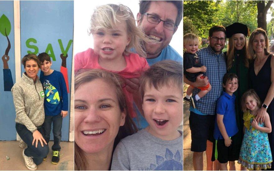 Davidas McKeanas su žmona ir vaikais
