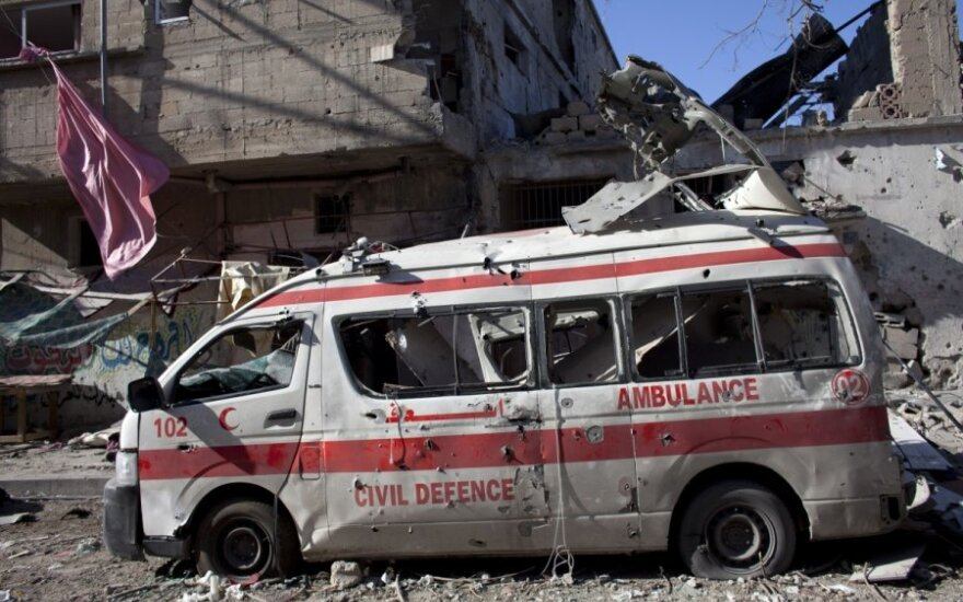 Izraelio puolimo 21-ąją dieną aukų Gazos Ruože skaičius pasiekė 1 037