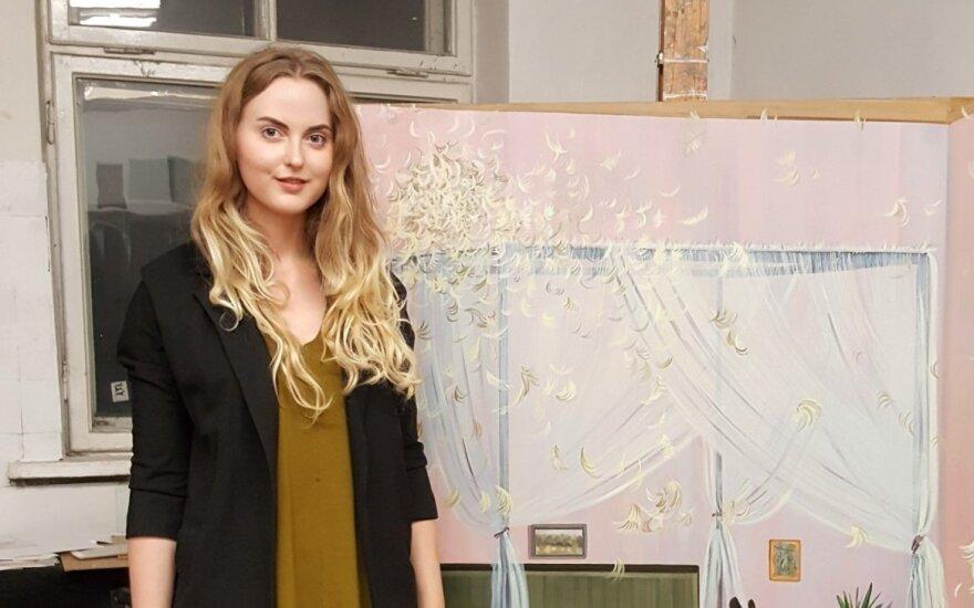 Monika Plentauskaitė savo studijoje