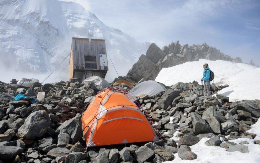 Alpinistai prie Monblano