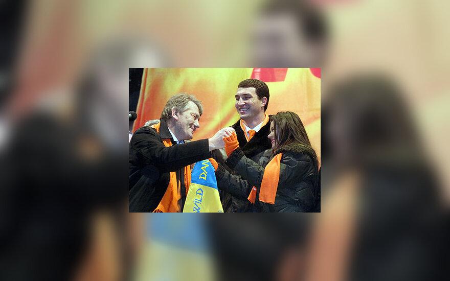 V.Juščenka, Ruslana ir boksininkas V.Kličko