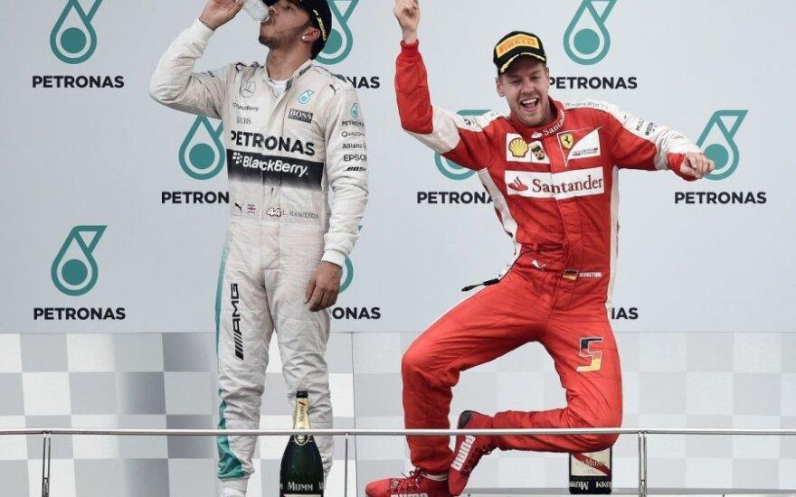 Lewisas Hamiltonas ir Sebastianas Vettelis