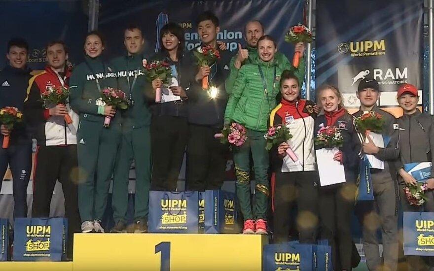 Lietuvos penkiakovės duetui – pasaulio taurės bronza