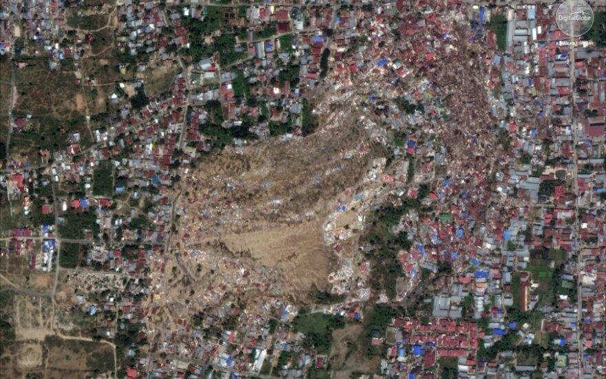 Indonezijoje po drebėjimo ir cunamio dar gali būti dingę per 1 tūkst. žmonių