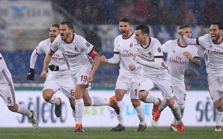 """AC """"Milan"""" triumfas talijos taurės pusfinalyje"""