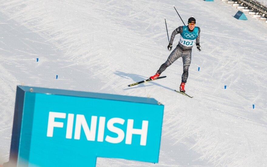 Pjongčango olimpiada: slidinėjimas, 15 km lenktynės laisvuoju stiliumi – Mantas Strolia ir Modestas Vaičiulis
