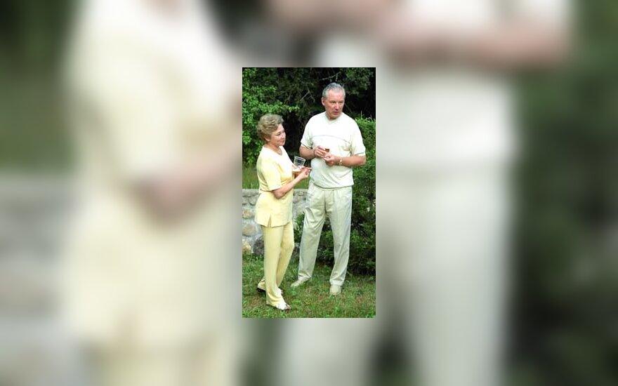 Adolfas Šleževičius su žmona