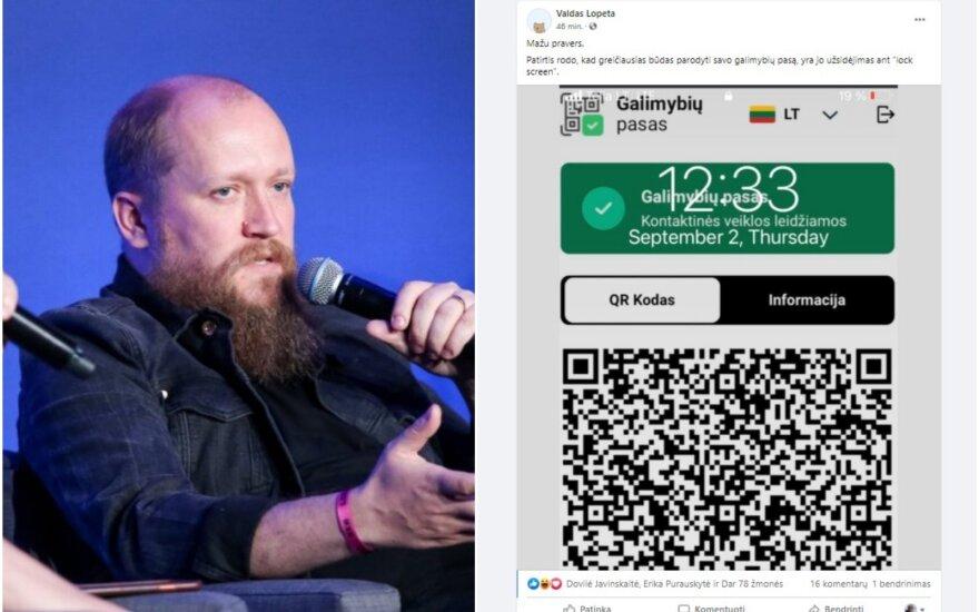 Valdas Lopeta pasidalijo paprasta, bet genialia idėja, kaip patogiai naudoti galimybių pasą telefone.