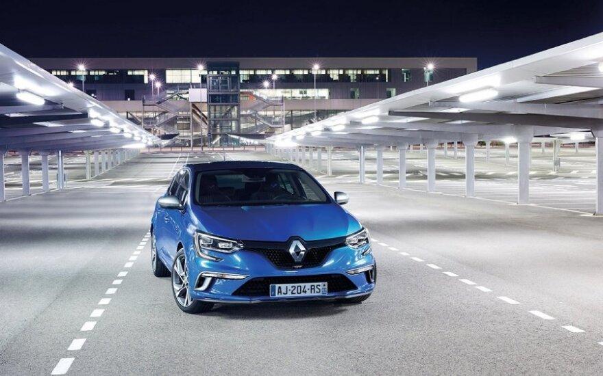 """Debiutuoja naujos kartos """"Renault Megane"""""""