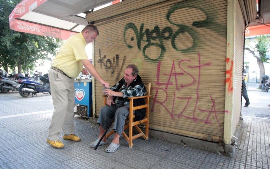 Graikija, bankrotas, skurdas