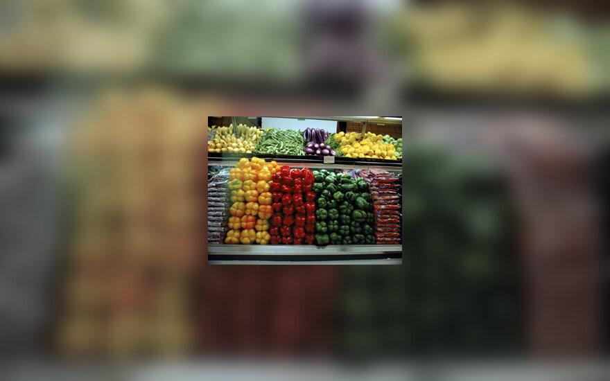 Parduotuvė, daržovės
