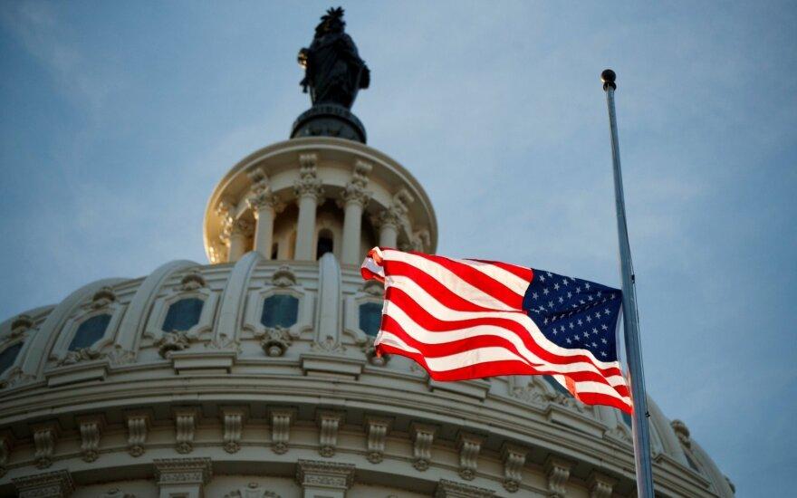JAV politikai Kapitolijuje pagerbė George'o H. W. Busho atminimą