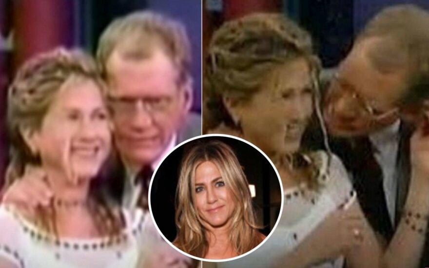 Jennifer Aniston, Davidas Lettermanas / Foto: video stopkadrai, Vida Press