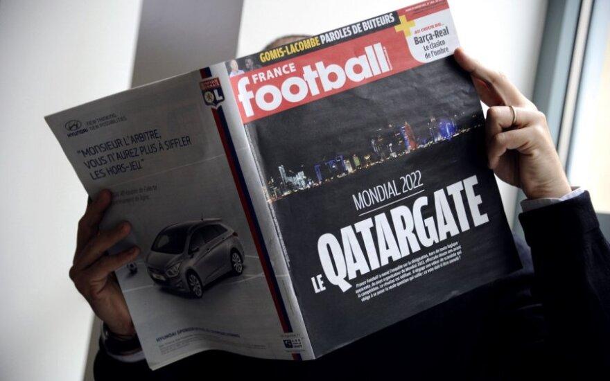 """""""France Football"""" numeris apie FIFA korupcija"""