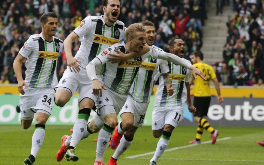 """Menchengladbacho """"Borussia"""" futbolininkai džiaugiasi įvarčiu"""