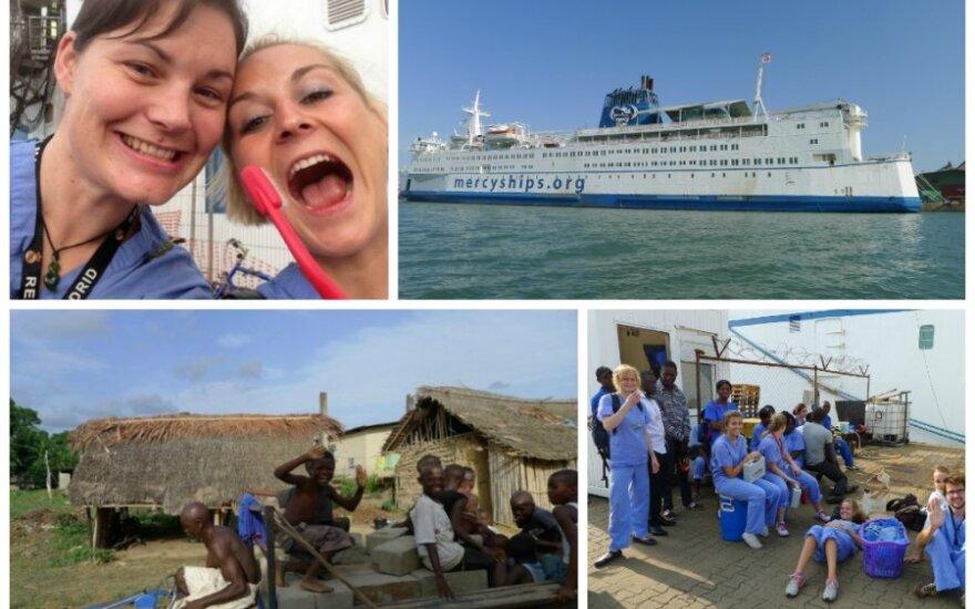 Afrikoje laive–ligoninėje savanore dirbusi lietuvė: aš jį vadindavau 3 žvaigždučių viešbučiu