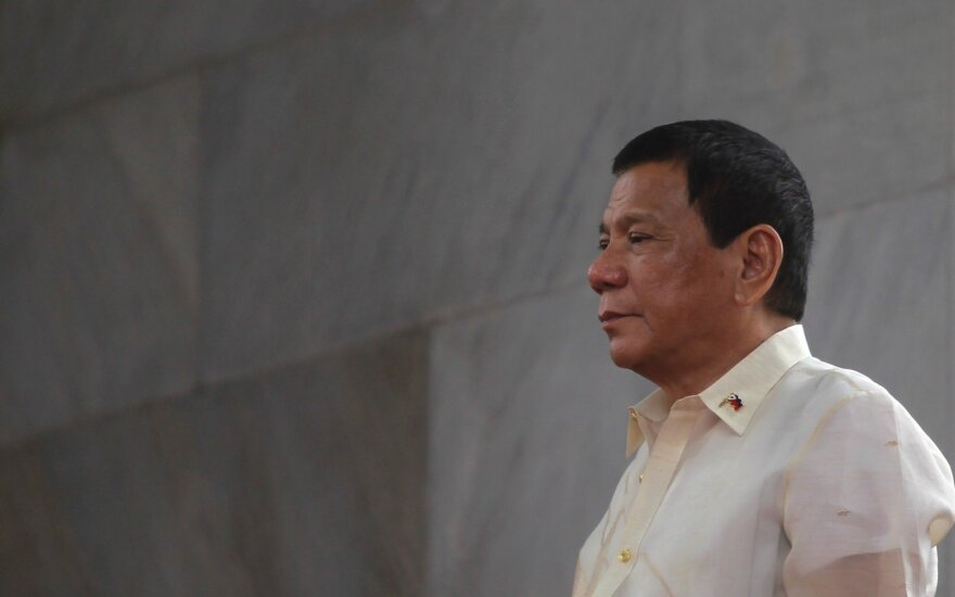 Žiniasklaida: Filipinų prezidentas gali atsistatydinti dėl sunkios ligos