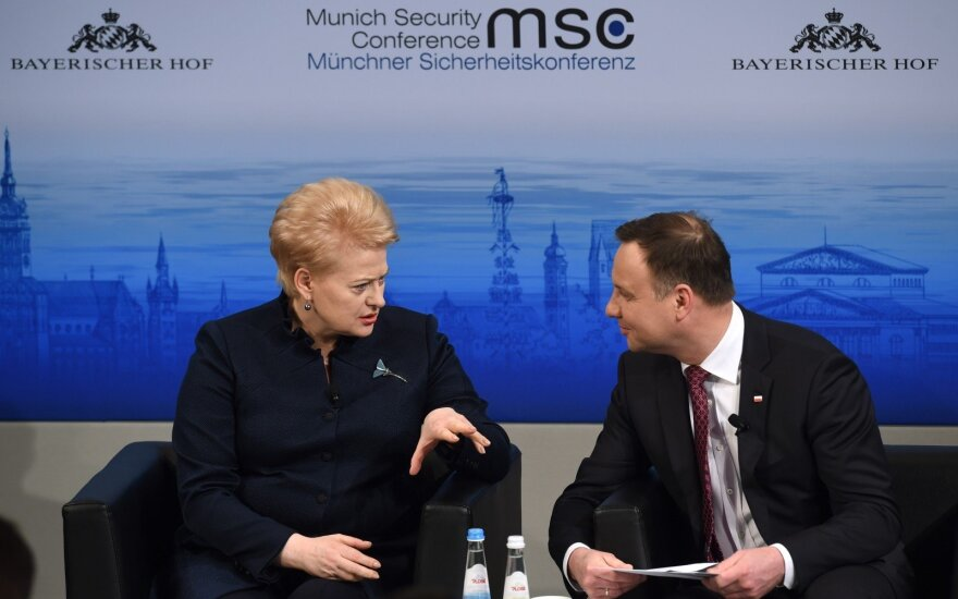 Presidents Dalia Grybauskaitė and Andrzej Duda at the MSC