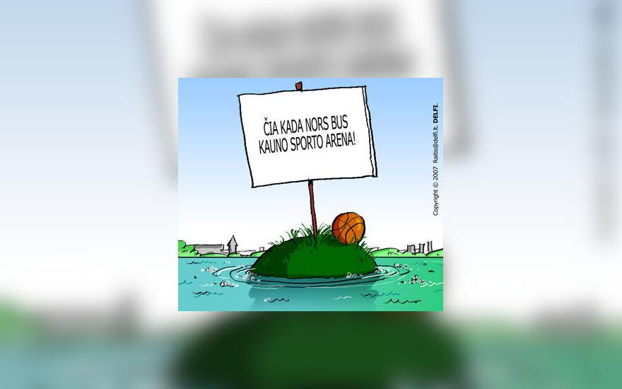 Kauno arena - karikatūra