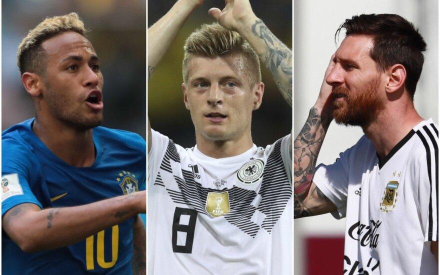Neymaras, Toni Kroosas, Lionelis Messi