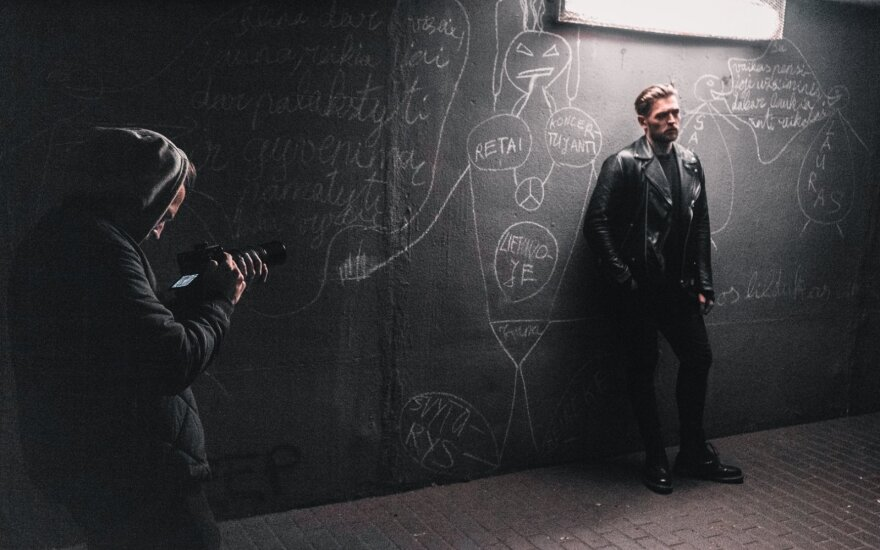 Jurijaus Veklenko vaizdo klipo filmavimas /Foto: mlensphoto