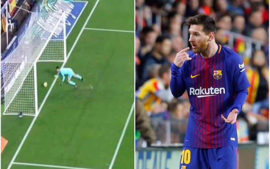 Lionelis Messi ir neįskaitytas jo įvartis