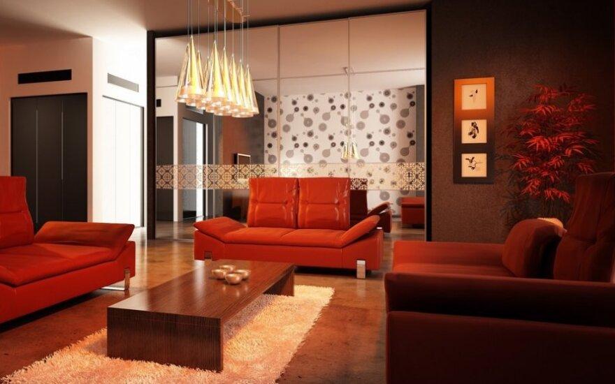 Šiltos spalvos padės sukurti jaukumą namuose
