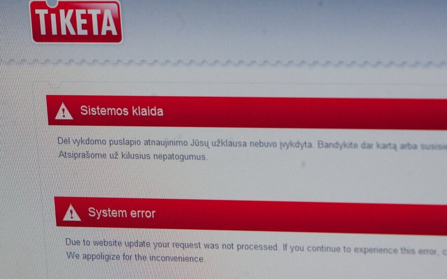 """""""Tiketai"""" skirta bauda už neteisėtą mokesčio taikymą pirkėjams, įsigyjantiems bilietus internetu"""