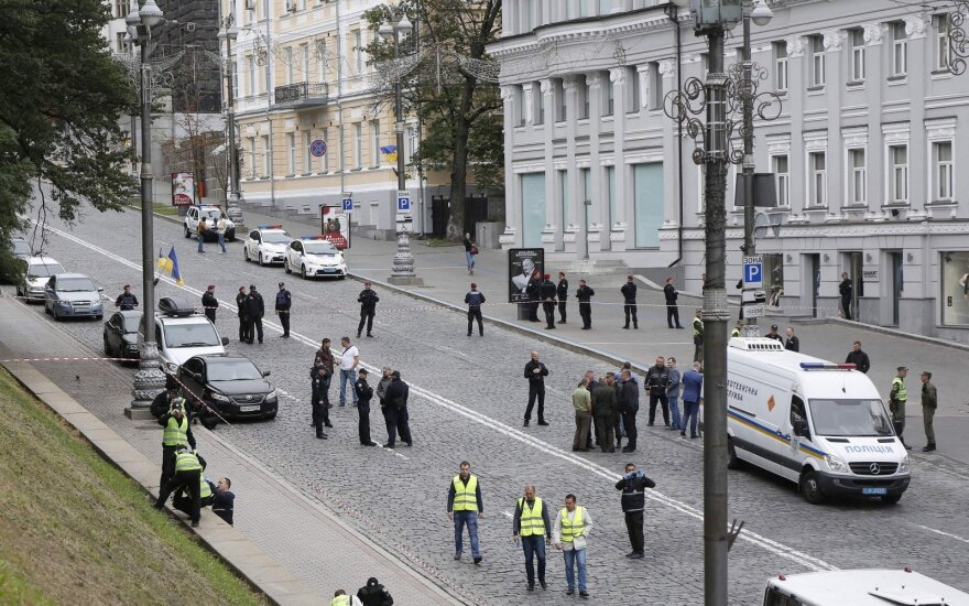 В Киеве взорвался автомобиль сотрудника спецслужбы, подрывник умер