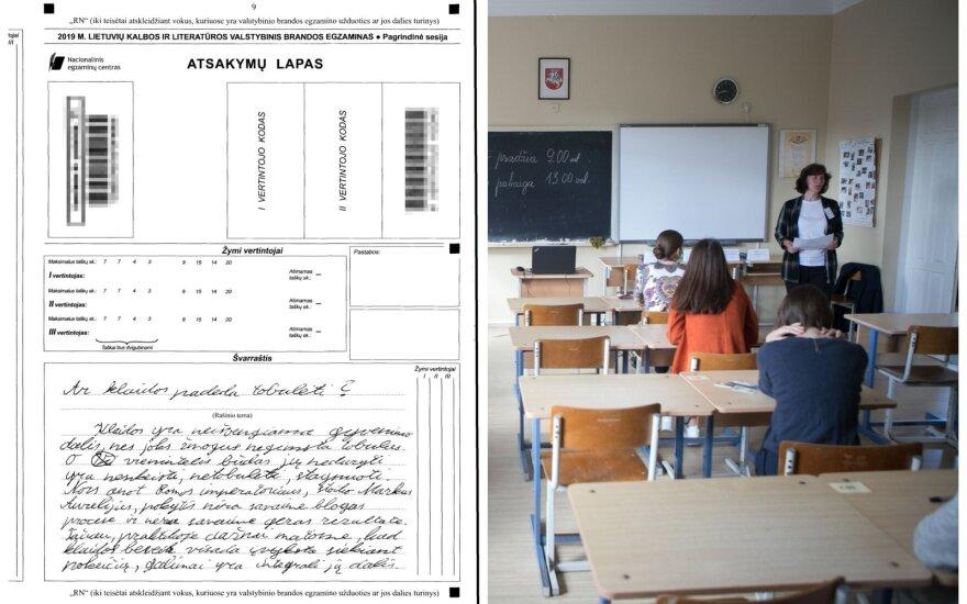 Abituriento, kuris egzamino neišlaikė, rašinys