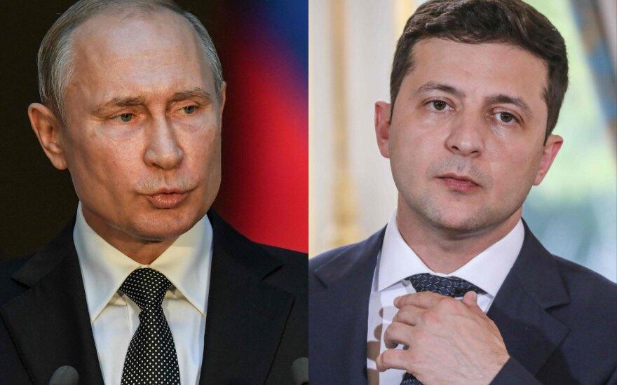V.Putinas ir V.Zelenskis