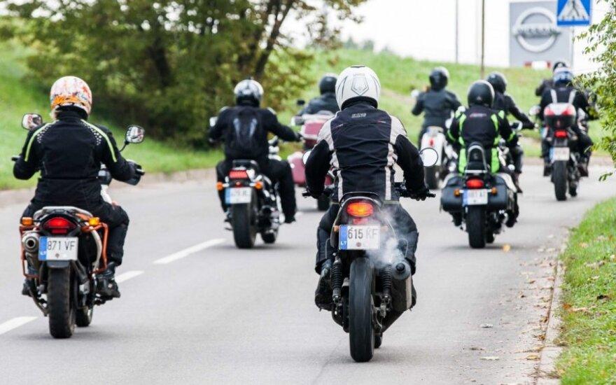 Motociklininkų žygis iš Vilniaus į Birštoną