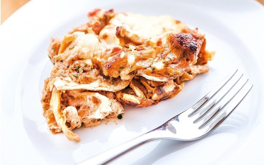 Tortiliju lazanija su vištiena