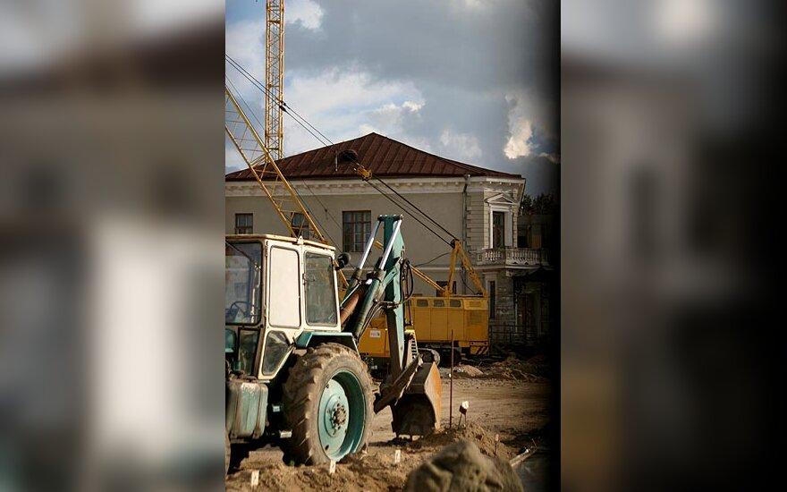 Valdovų rūmų statyba