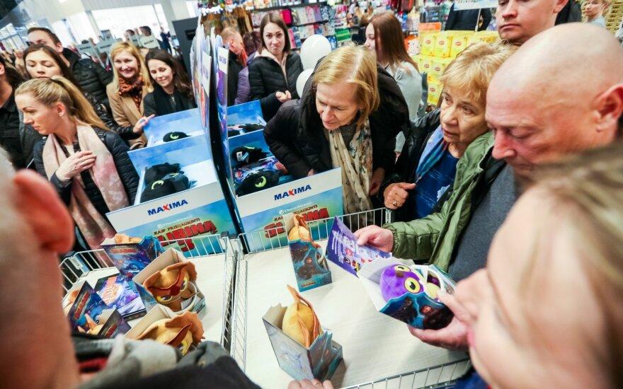 """""""Maximos"""" komercijos vadovė: slibinų manija dešimtimis kartų padidino prekių pardavimus"""