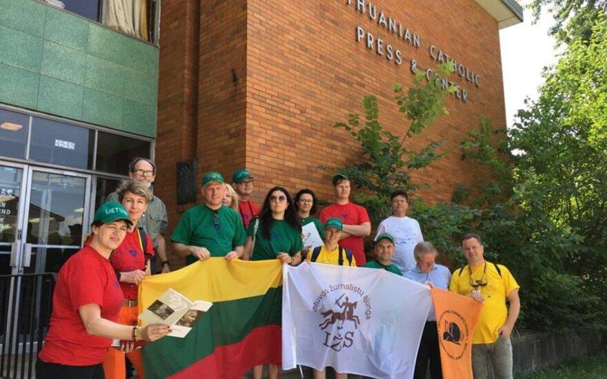 Ekspedicijos dalyviai JAV lietuvių kilmės asmenų sutiko net indėnų rezervate
