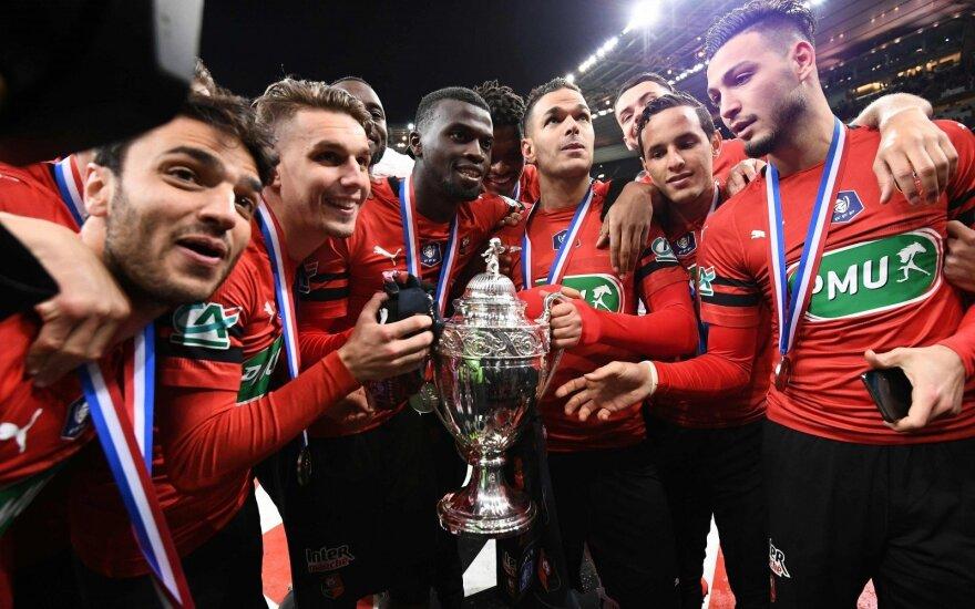 """""""Rennes"""" klubas tapo Prancūzijos taurės laimėtoju"""