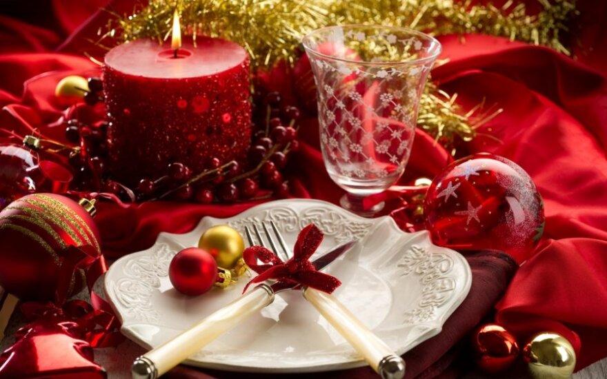 Kalėdinio stalo dekoras