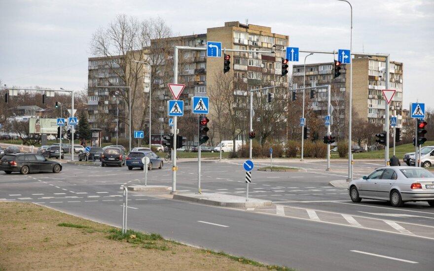 Rekonstruota Rinktinės ir Žalgirio gatvių sankryža: žada daugiau saugumo ir didesnį pralaidumą