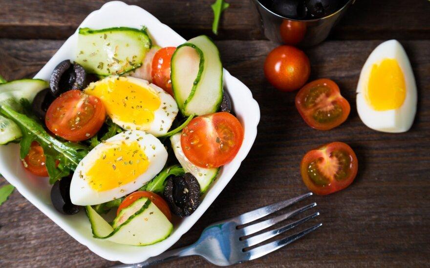 Sočios salotos su kiaušiniu