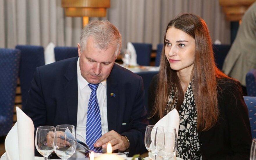 Arvydas Anušauskas ir Lina Bulanovaitė