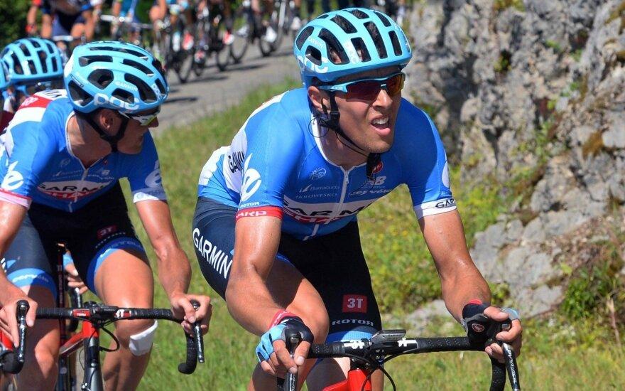 """R. Navardauskas antrame """"Tour de Romandie"""" etape liko 135-as"""
