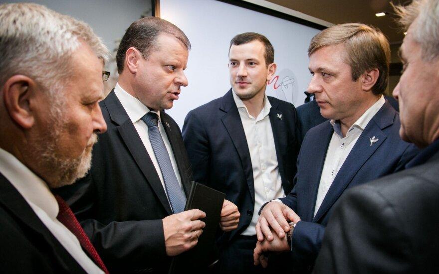 Ramūnas Karbauskis, Virginijus Sinkevičius, Saulius Skvernelis