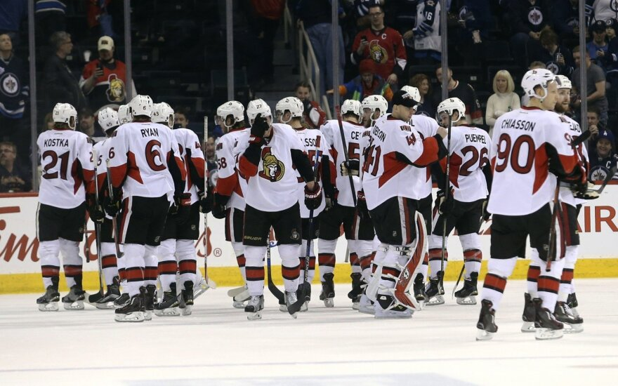 """""""Senators"""" - paskutinis Kanados klubas netekęs šanso žaisti NHL atkrintamose varžybose"""