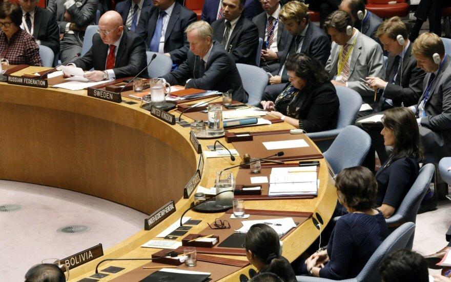 Jungtinėse Tautose – aršus JAV ir Rusijos mūšis: smogė į skaudžią vietą